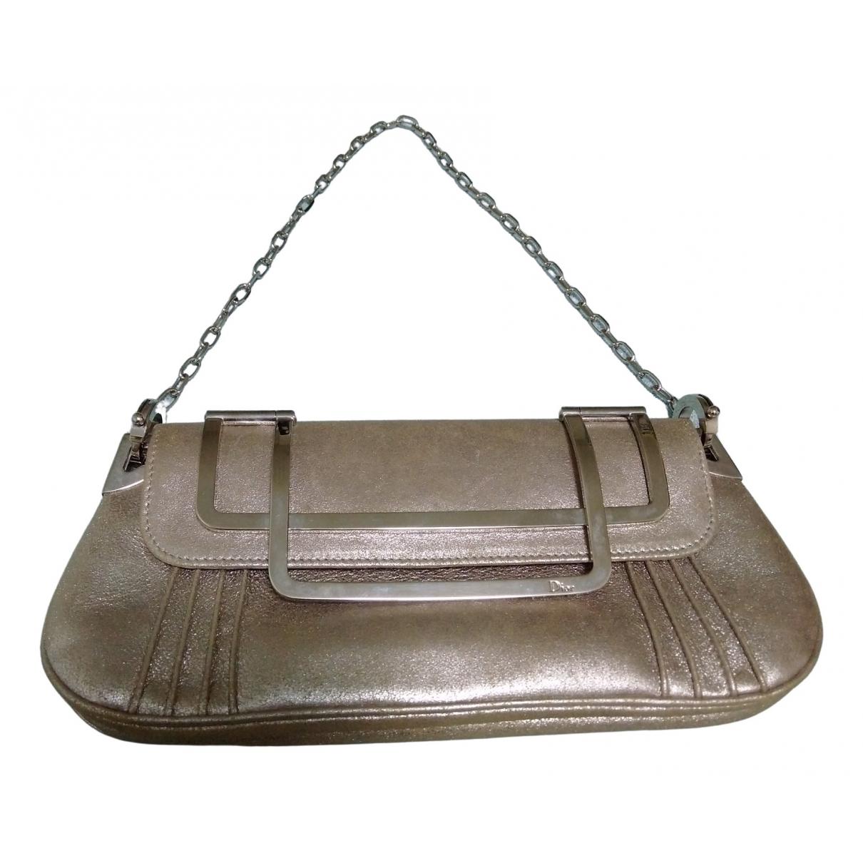 Dior \N Silver Leather Clutch bag for Women \N