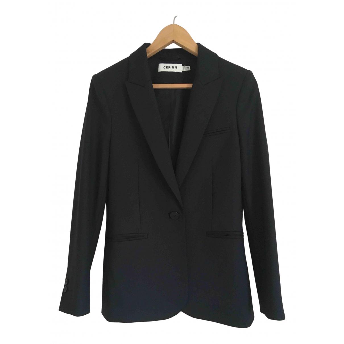 Cefinn - Veste   pour femme en laine - bleu