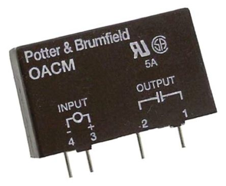 TE Connectivity 5 A rms SPNO Interface Relay Module, AC/DC, Triac, 280 V rms Maximum Load