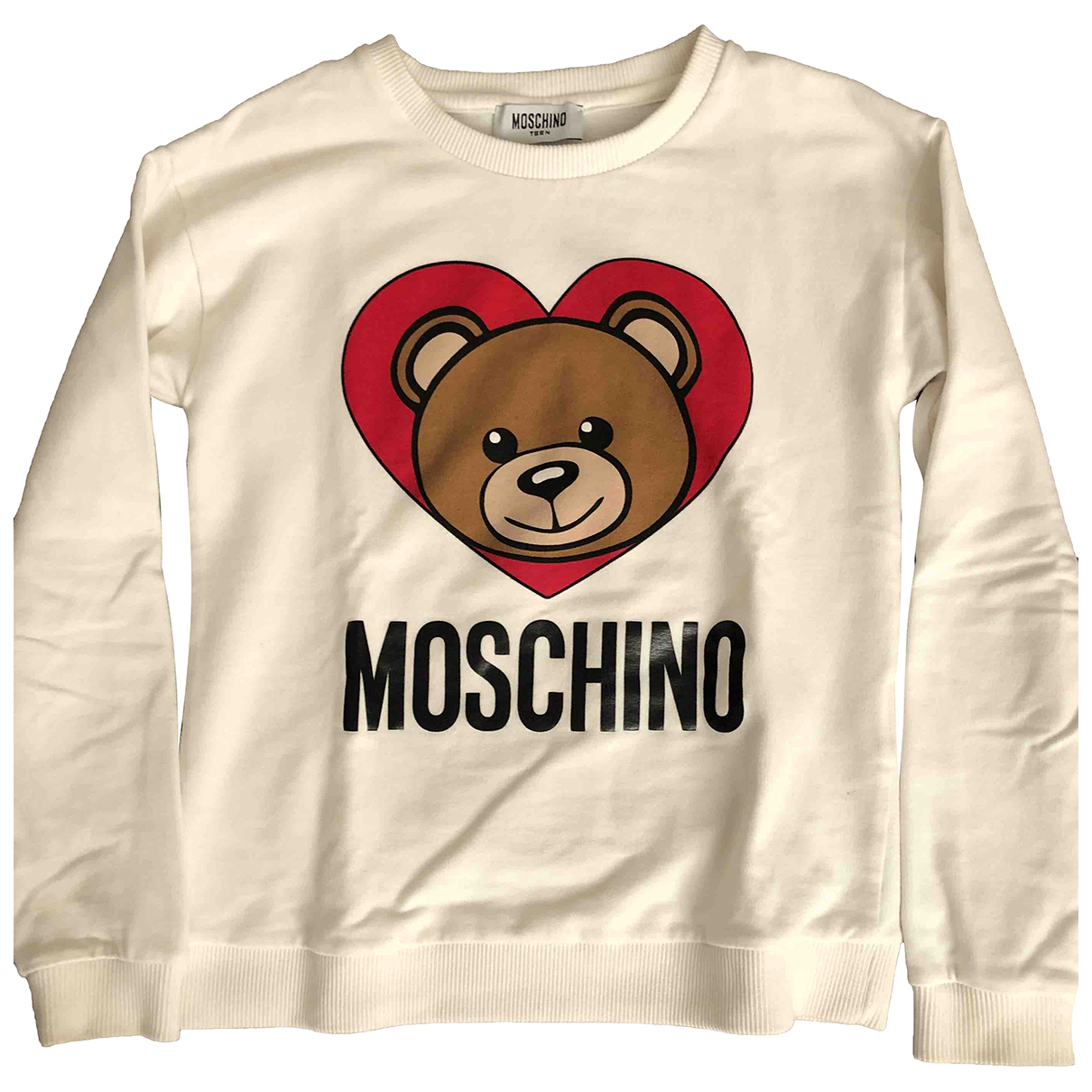 Moschino N White Cotton Knitwear for Kids 10 years - up to 142cm FR