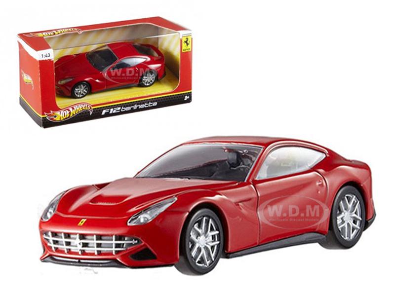 Ferrari F12 Berlinetta Red 1/43 Diecast Model Car by Hotwheels