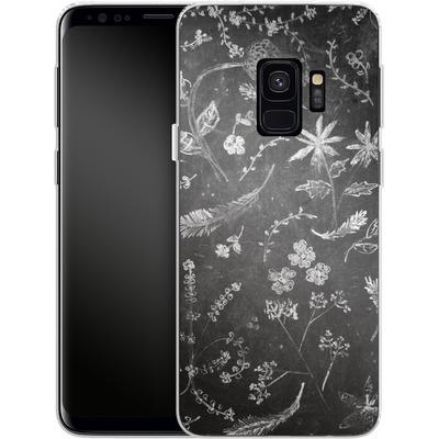 Samsung Galaxy S9 Silikon Handyhuelle - Flowers in chalk von ND Tank