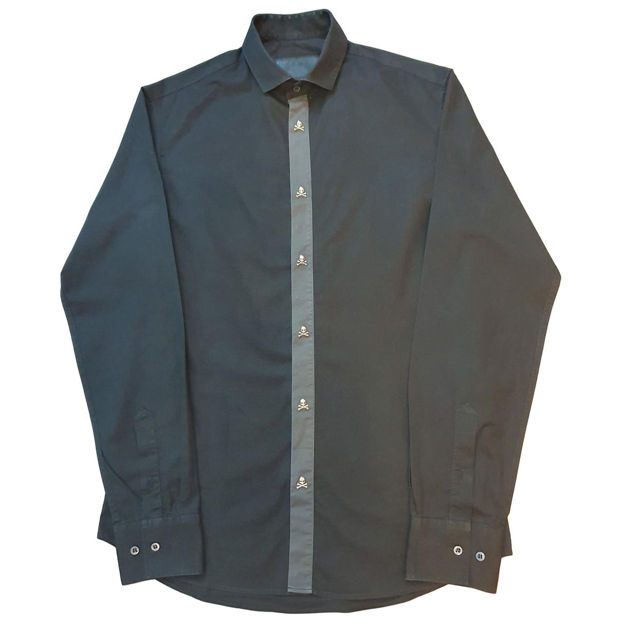 Philipp Plein \N Black Cotton Shirts for Men S International