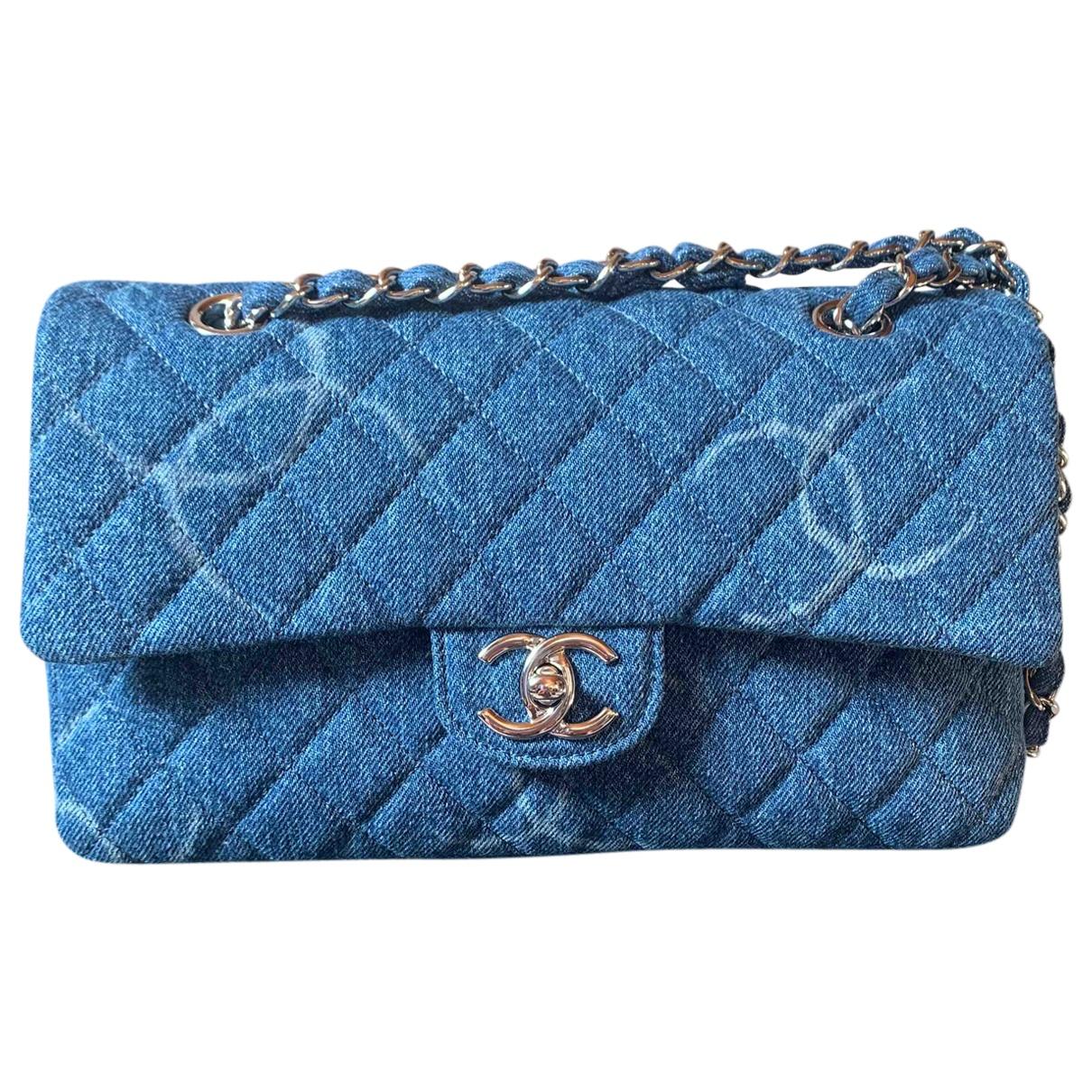 Bolsos clutch Timeless/Classique en Denim - Vaquero Azul Chanel