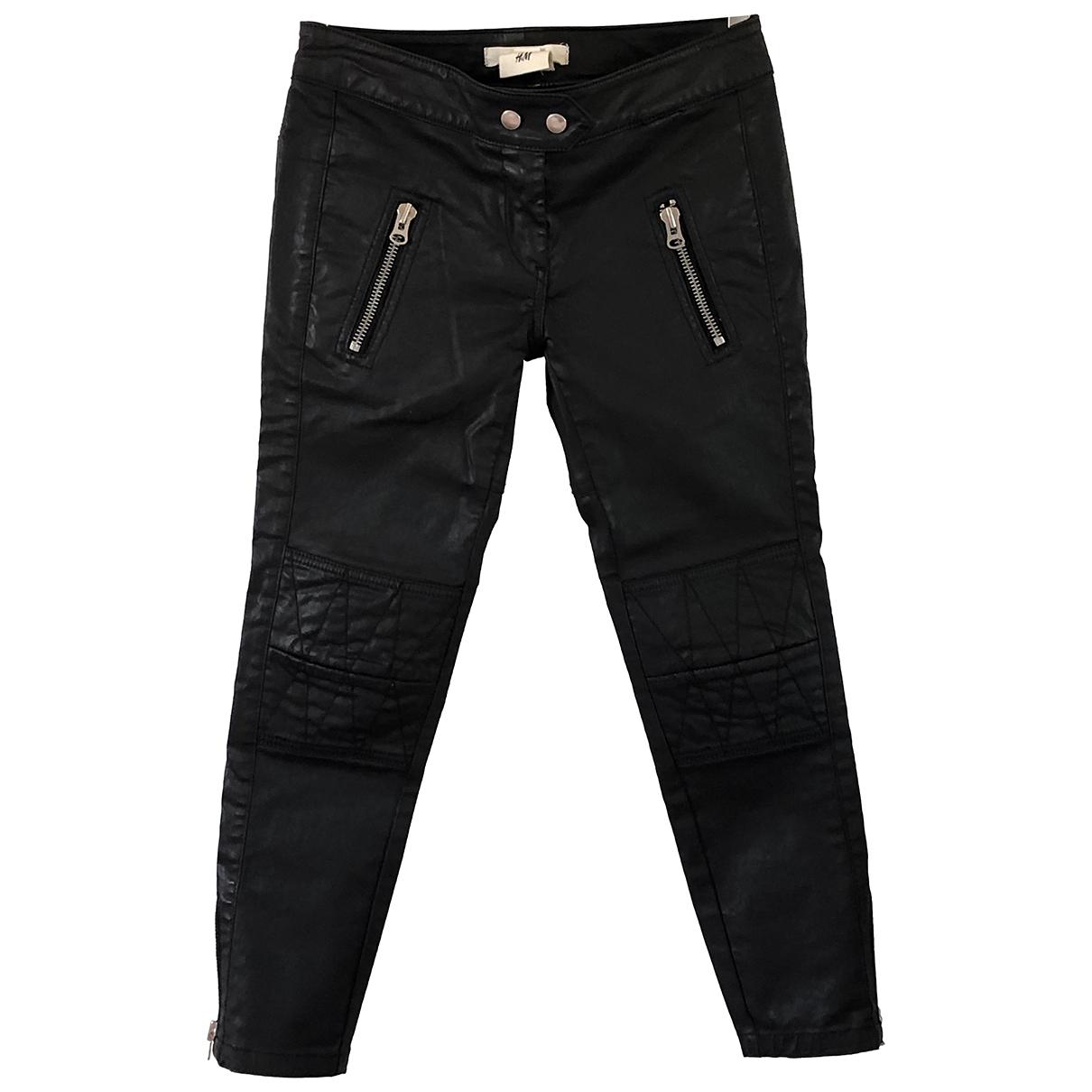 Isabel Marant Pour H&m \N Black Cotton Trousers for Women 34 FR