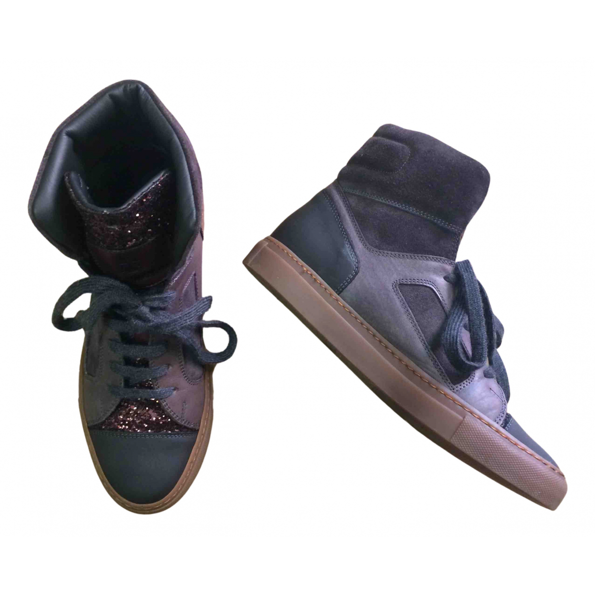 Brunello Cucinelli N Grey Suede Trainers for Women 37 IT