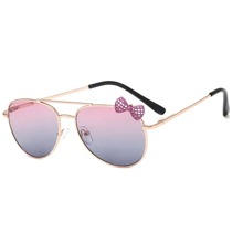 Girls Bow Decor Sunglasses