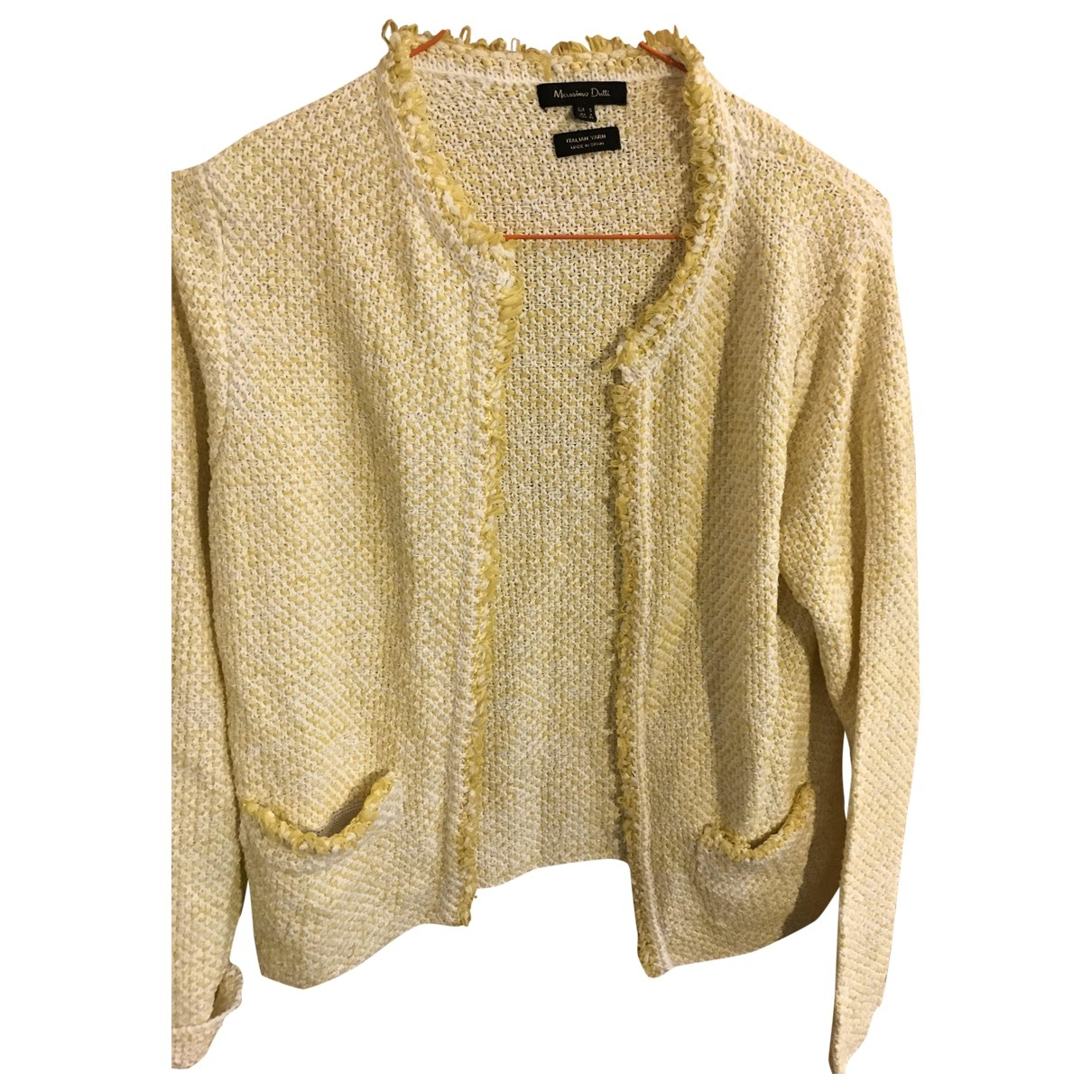 Massimo Dutti - Veste   pour femme en tweed - jaune