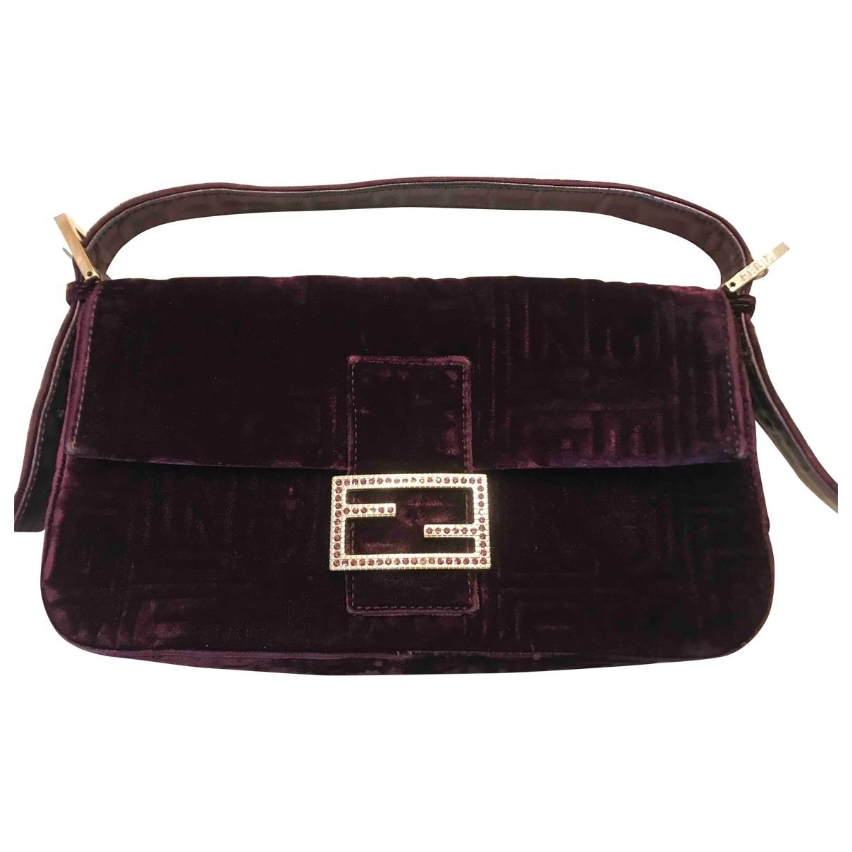 Fendi Baguette Purple Velvet handbag for Women \N