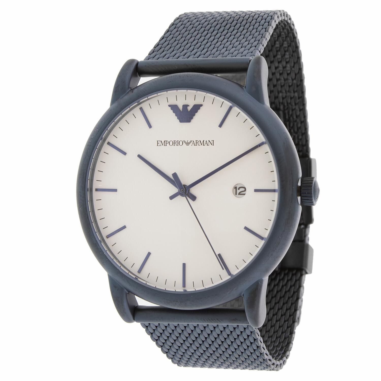Emporio Armani Men's Luigi AR11025 Blue Stainless-Steel Plated Quartz Dress Watch