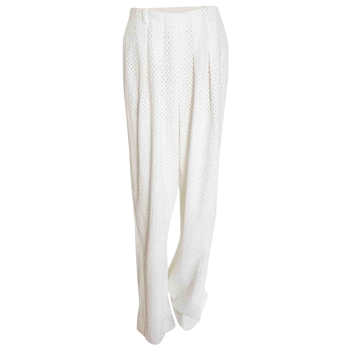 Chloé \N Cotton Trousers for Women 36 FR