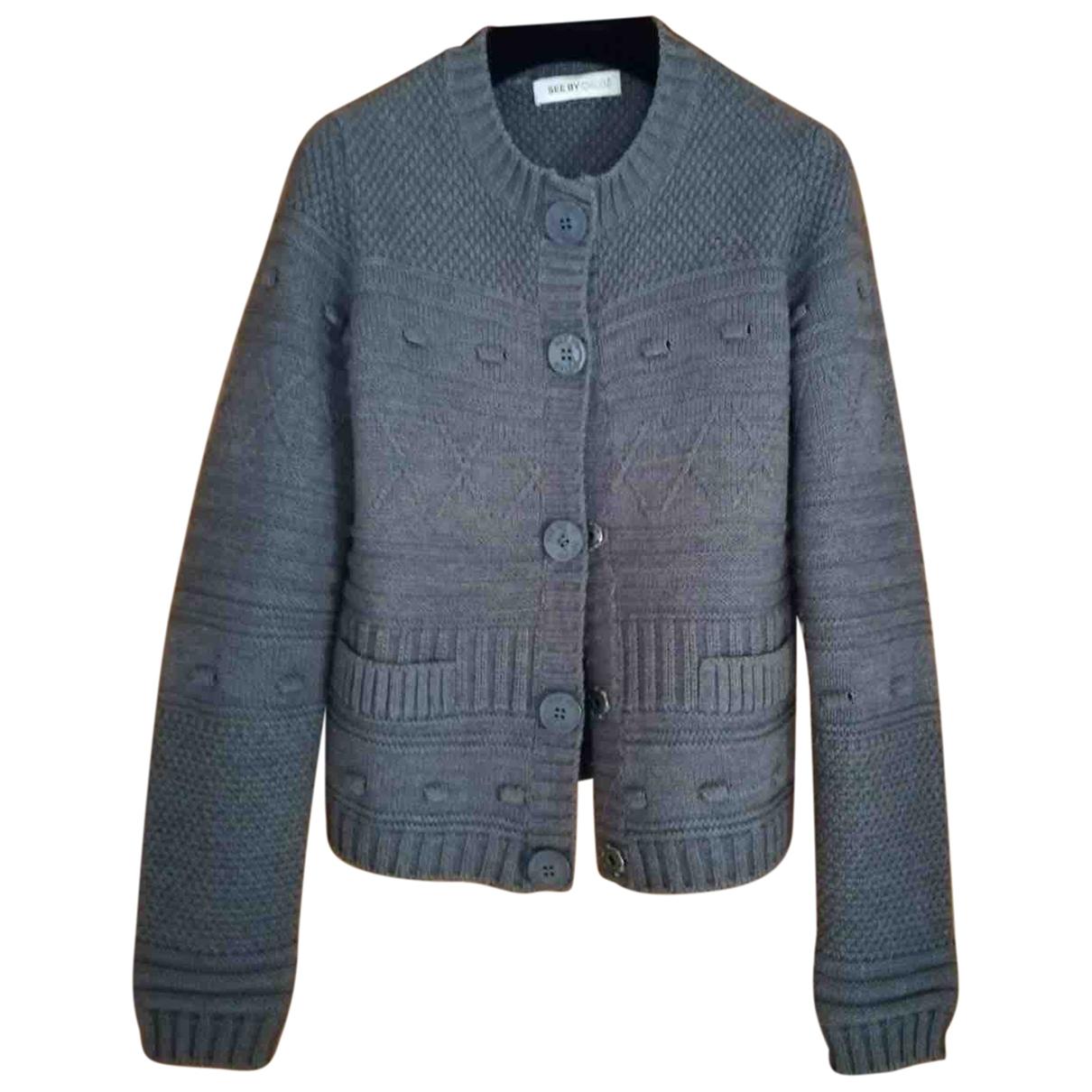 See By Chloe \N Pullover in  Grau Wolle