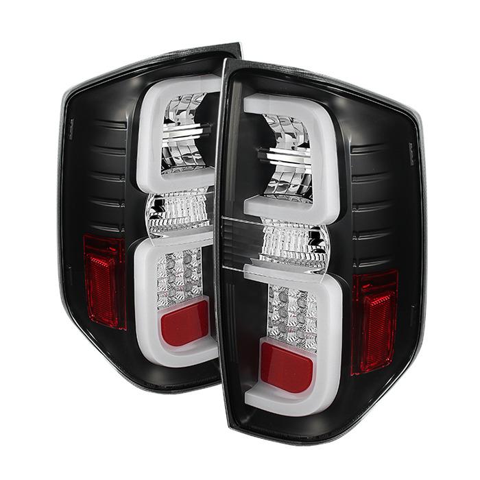 Spyder Auto ALT-YD-TTU14-LED-BK Black LED Taillights with Light Bar Toyota Tundra 14-18