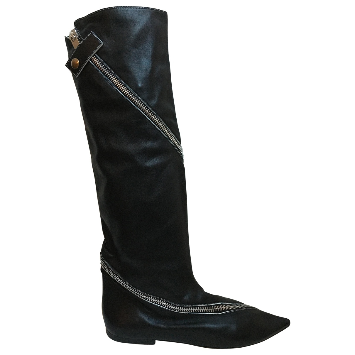 Celine \N Black Leather Ankle boots for Women 40 EU