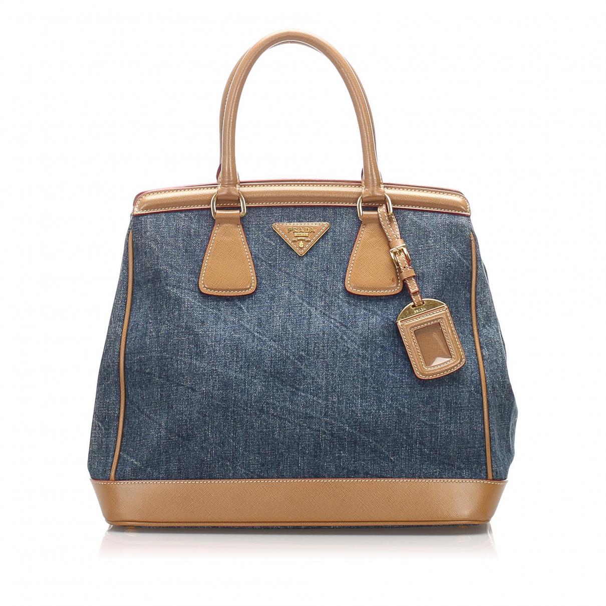 Prada \N Blue Cloth handbag for Women \N