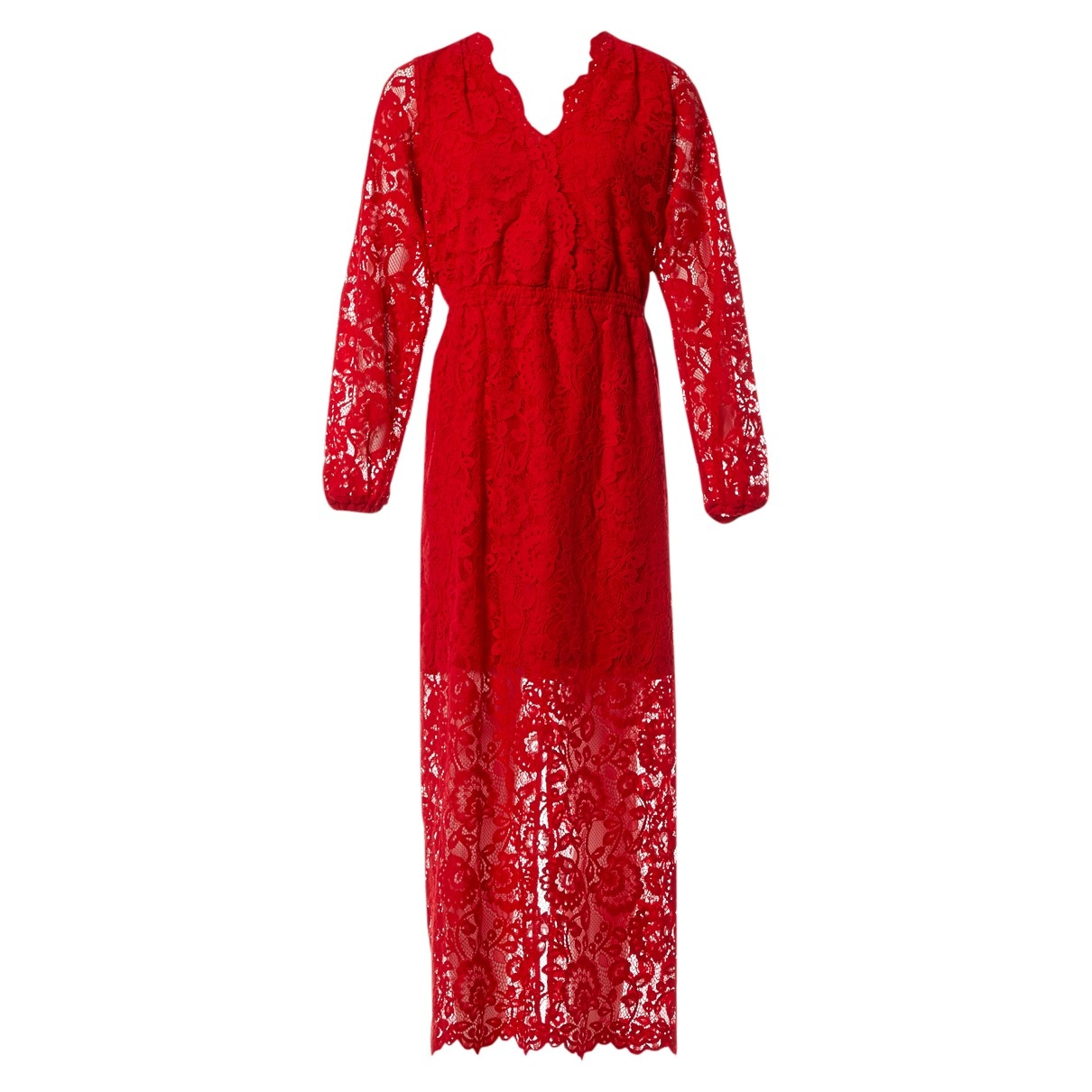 Designers Remix \N Kleid in  Rot Synthetik