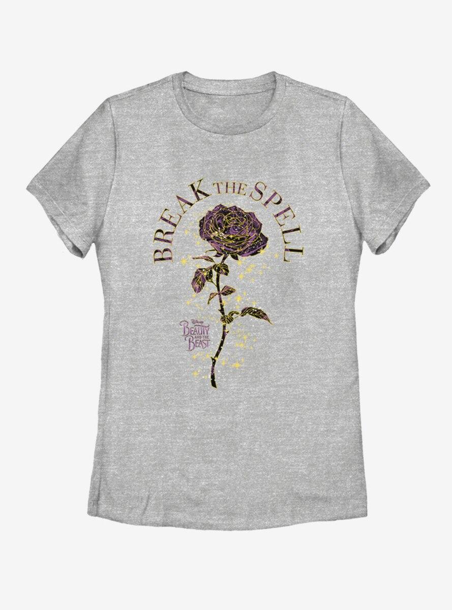 Disney Beauty and The Beast Rose Spells Womens T-Shirt