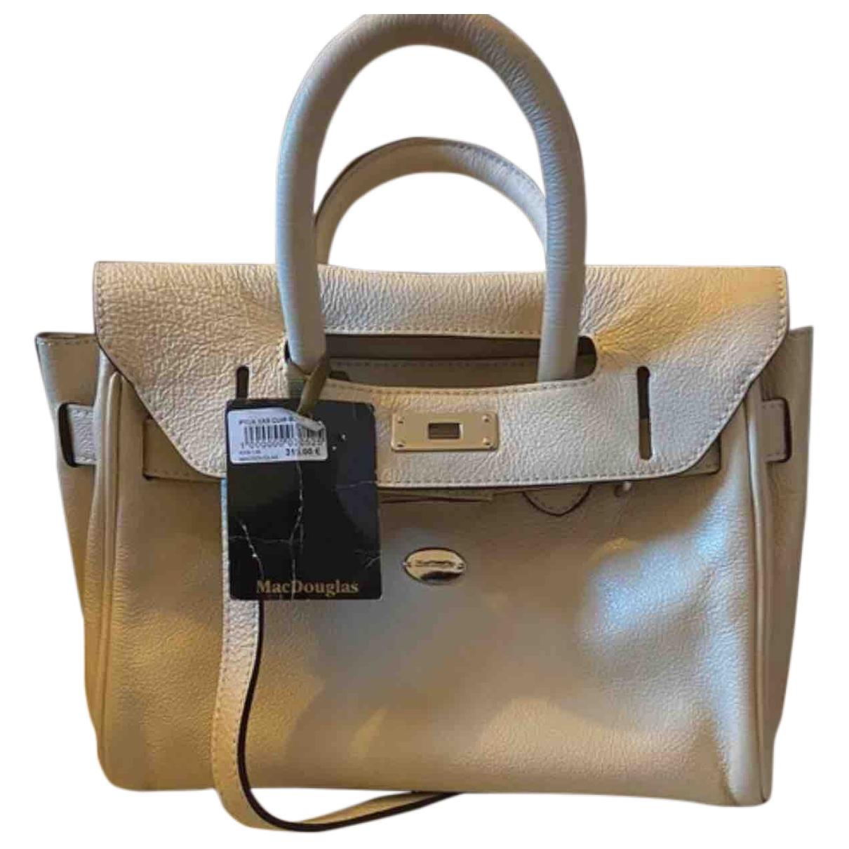 Mac Douglas \N Ecru Leather handbag for Women \N