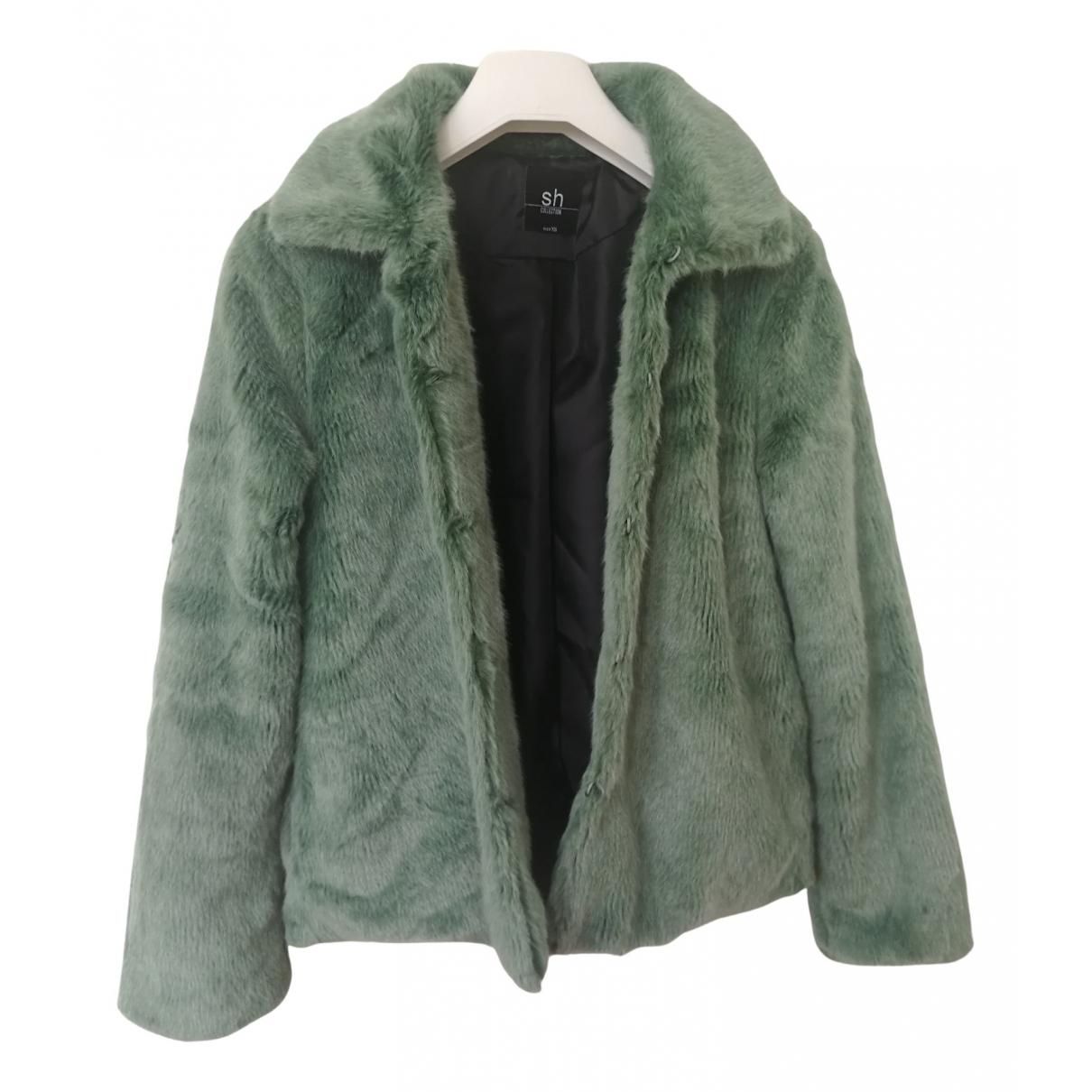 - Manteau   pour femme en fourrure synthetique - vert