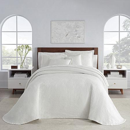 Liz Claiborne Daphne Floral Embellished Bedspread, One Size , White