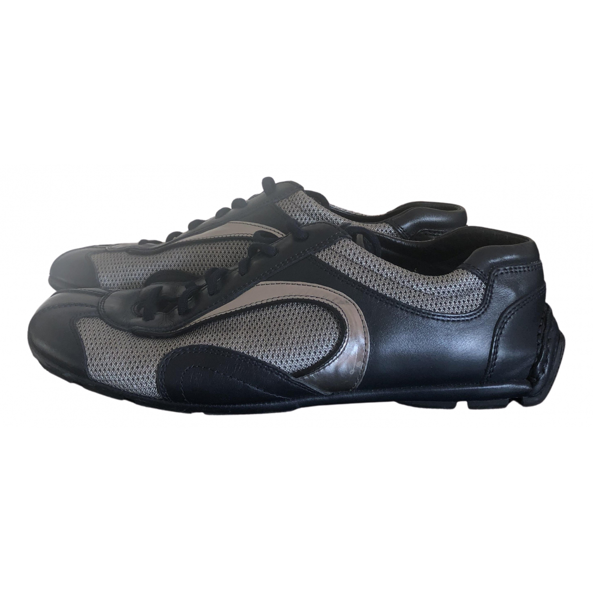 Prada N Navy Leather Trainers for Men 6 US