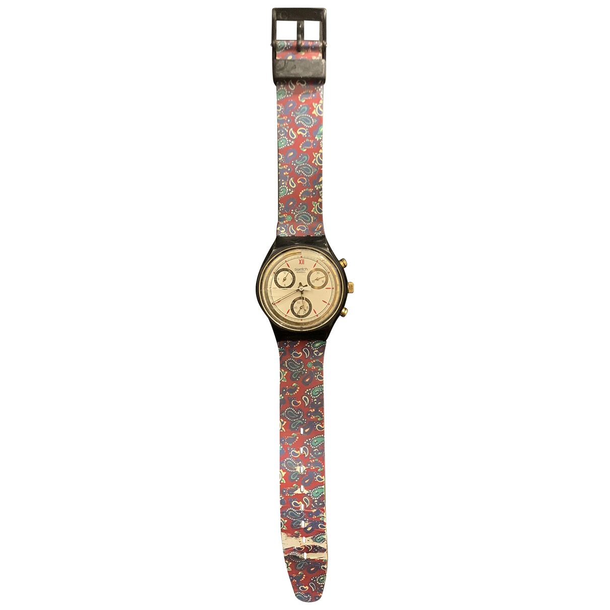 Swatch \N Uhr in  Bordeauxrot Kautschuk