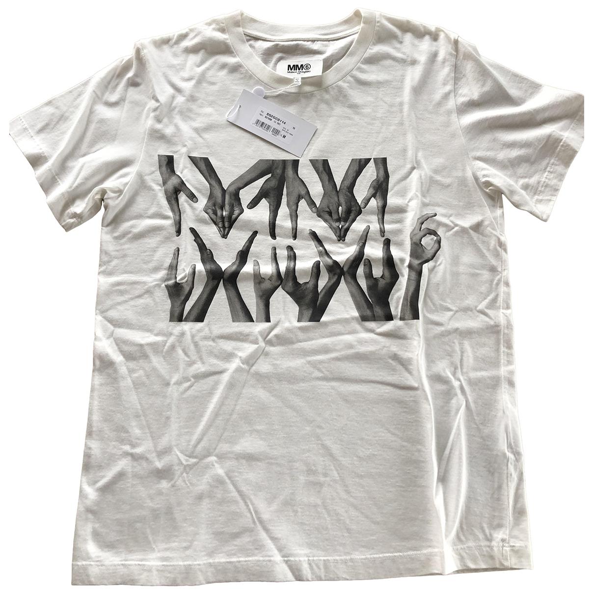 Mm6 \N Top in  Weiss Baumwolle