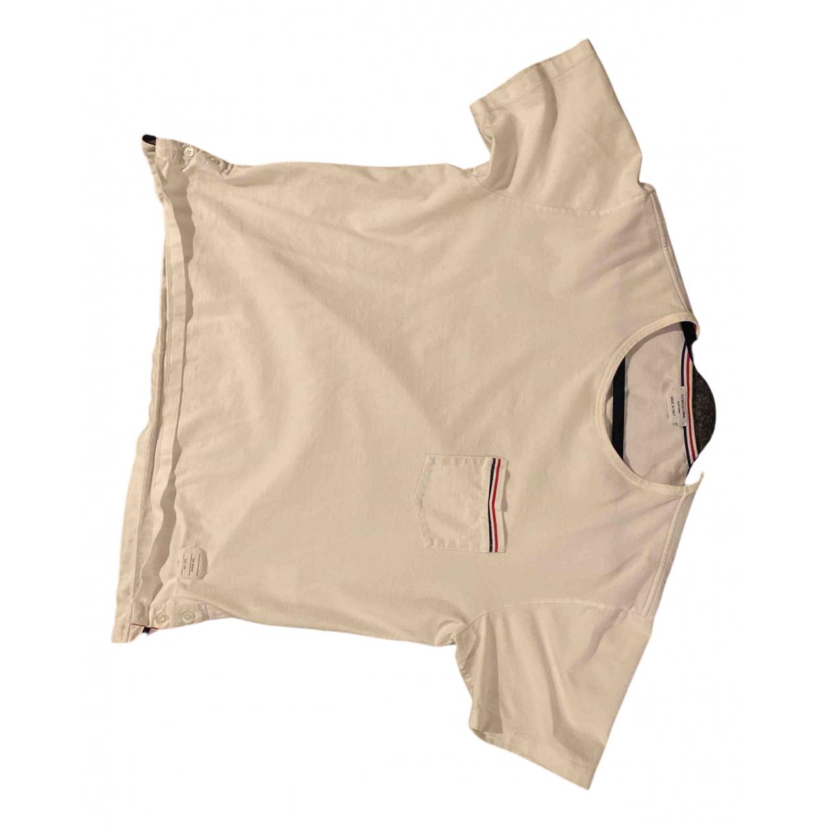 Thom Browne - Top   pour femme en coton - blanc
