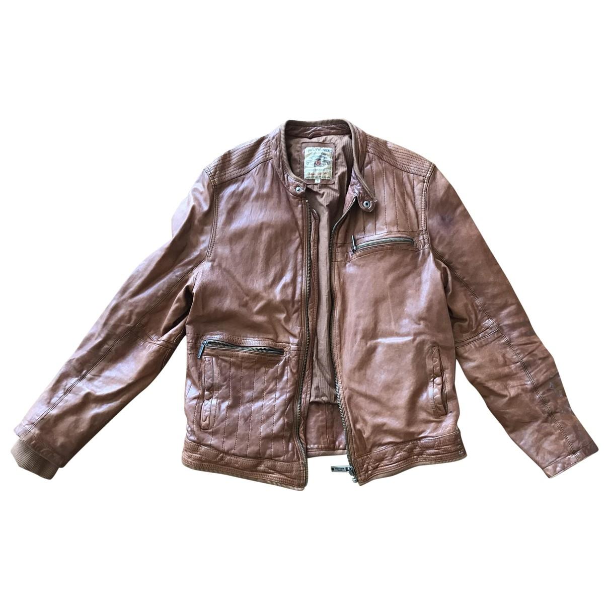 Chevignon \N Camel Leather jacket  for Men XL International