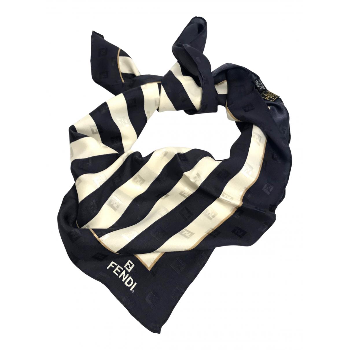 Fendi N Blue Silk scarf for Women N