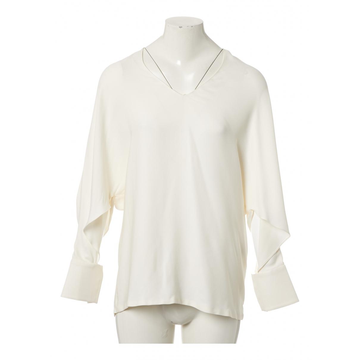 Fendi \N White Silk  top for Women 42 IT
