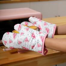 1 Stueck Mikrowellenofen Handschuhe mit Wassermelone Muster