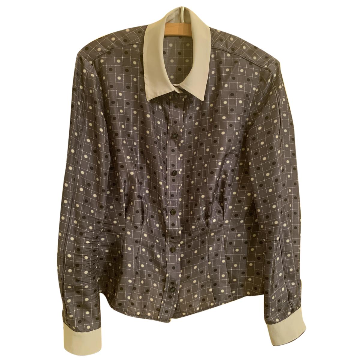 Emporio Armani N Anthracite Silk  top for Women 38 FR