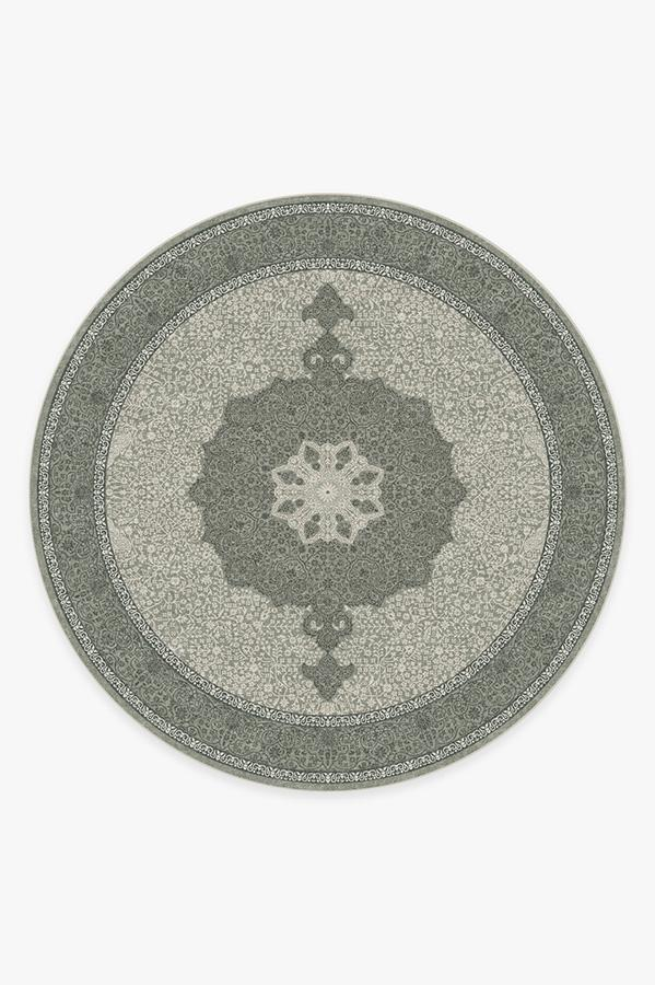 Washable Rug Cover | Tisa Sage Rug | Stain-Resistant | Ruggable | 8 Round
