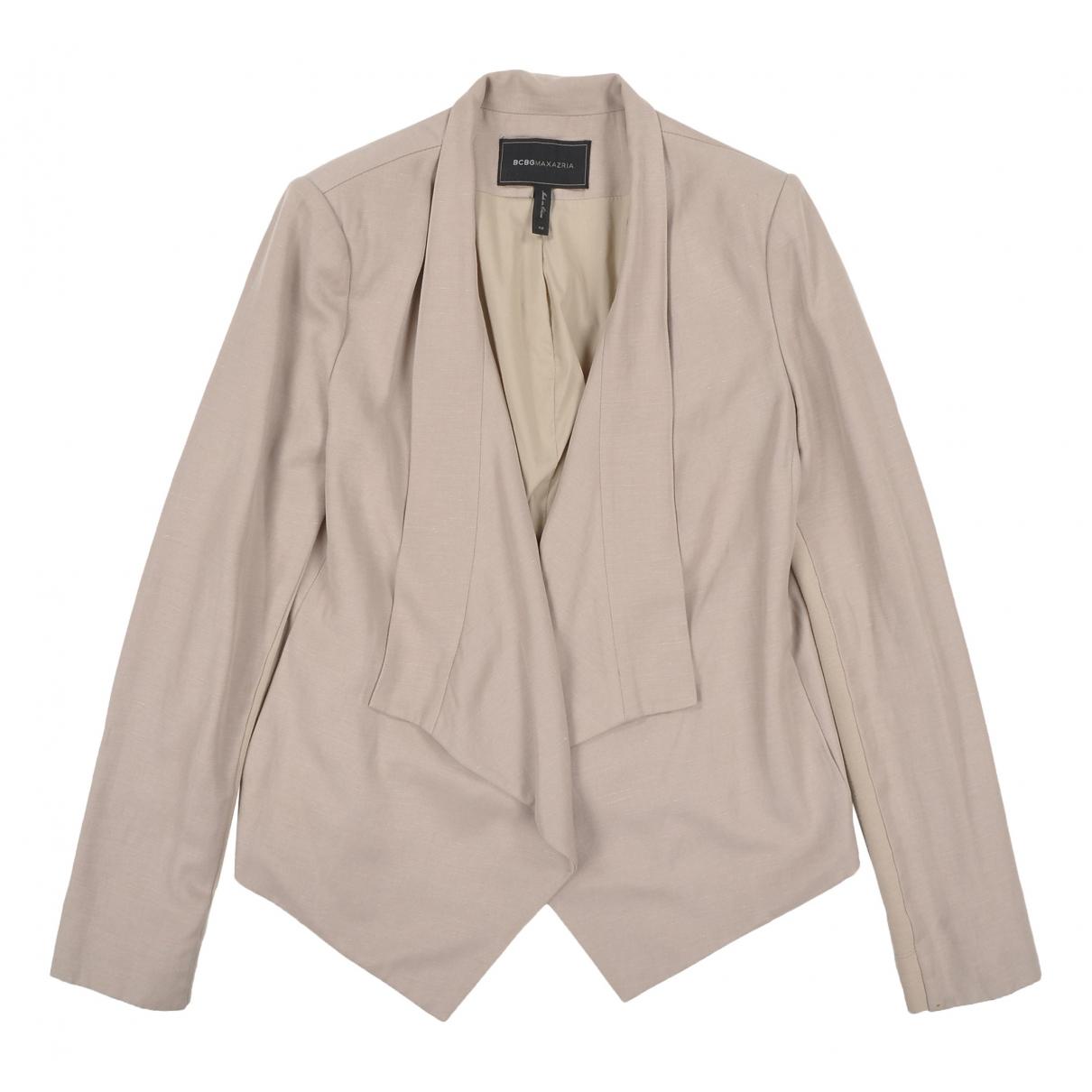 Bcbg Max Azria - Veste   pour femme en lin - beige