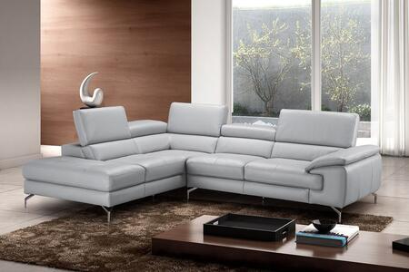 Olivia Collection 18275-LHFC 2-Piece Sectional Sofa with Left Facing Chaise and Right Facing Sofa in Light