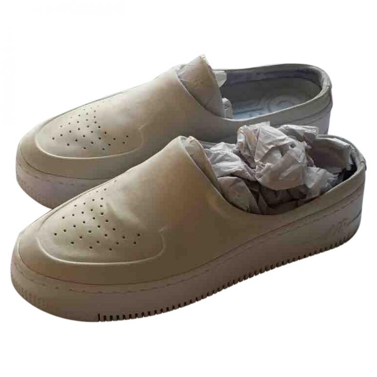 Nike - Baskets Air Force 1 pour femme en toile - blanc