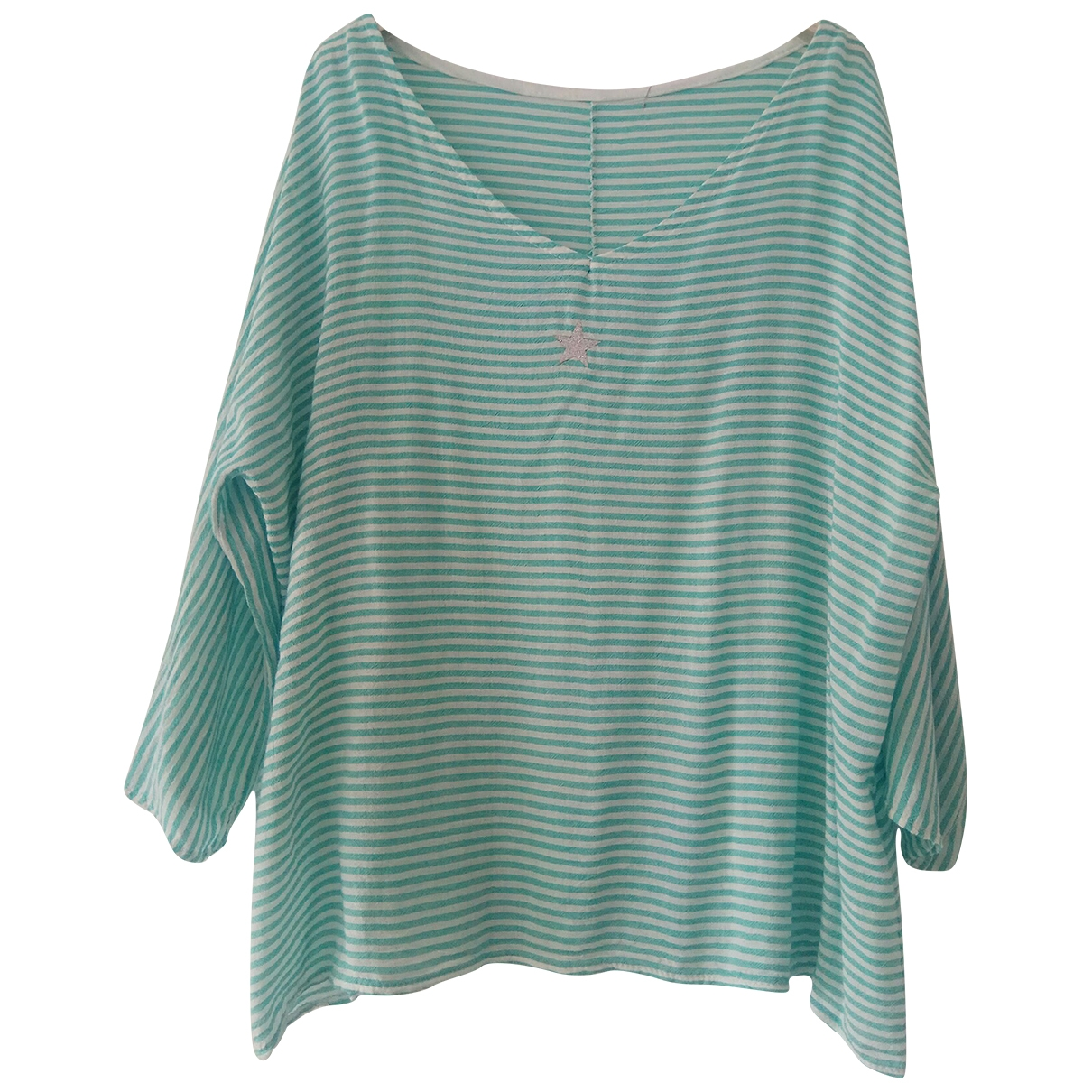 Non Signé / Unsigned \N Blue Cotton  top for Women One Size FR