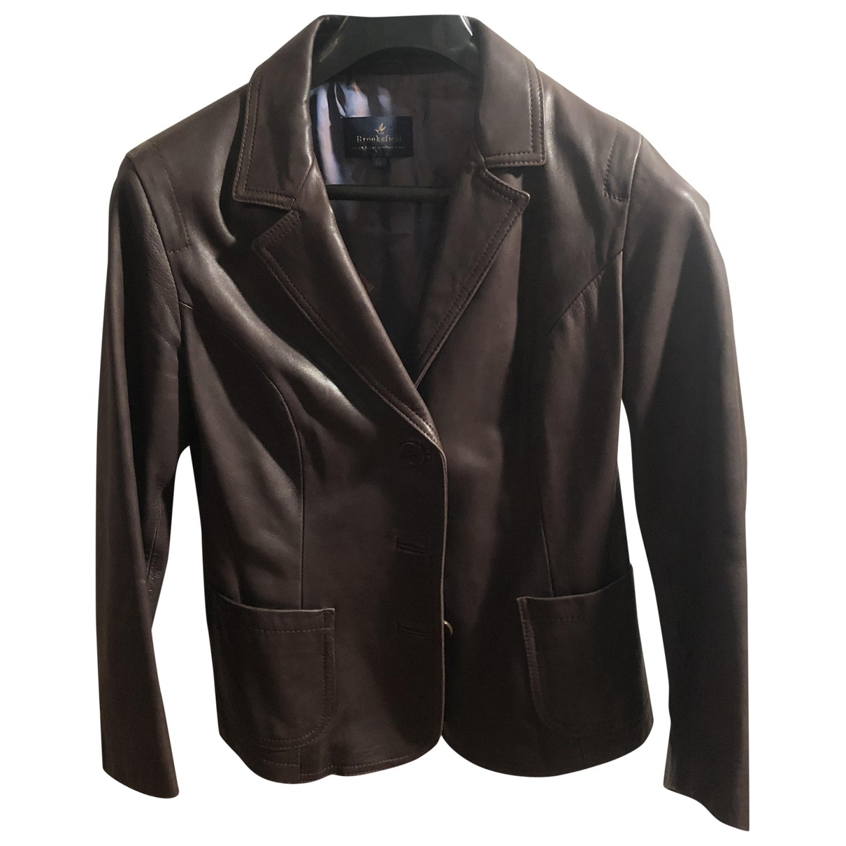 Brooksfield \N Brown Leather jacket for Women 44 FR