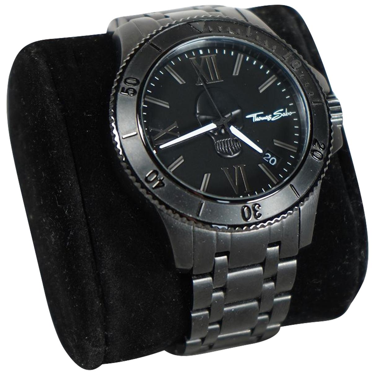 Thomas Sabo \N Uhr in  Schwarz Stahl