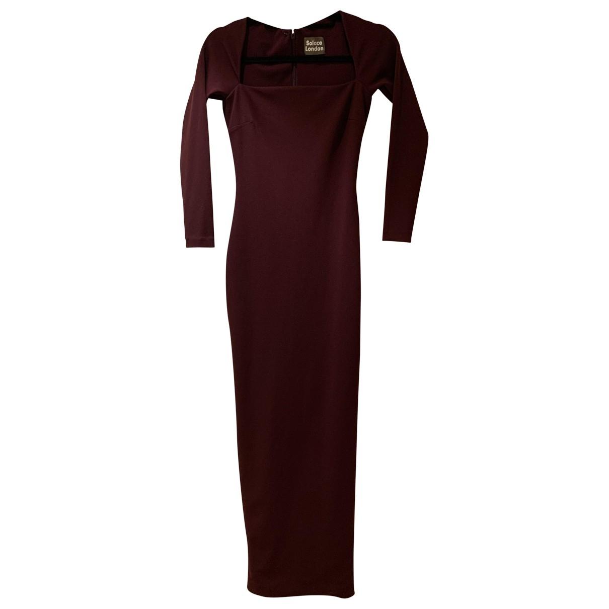 Solace London \N Kleid in  Bordeauxrot Polyester