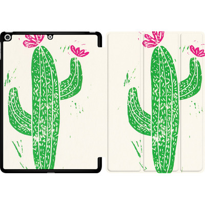 Apple iPad 9.7 (2017) Tablet Smart Case - Linocut Cacti von Bianca Green
