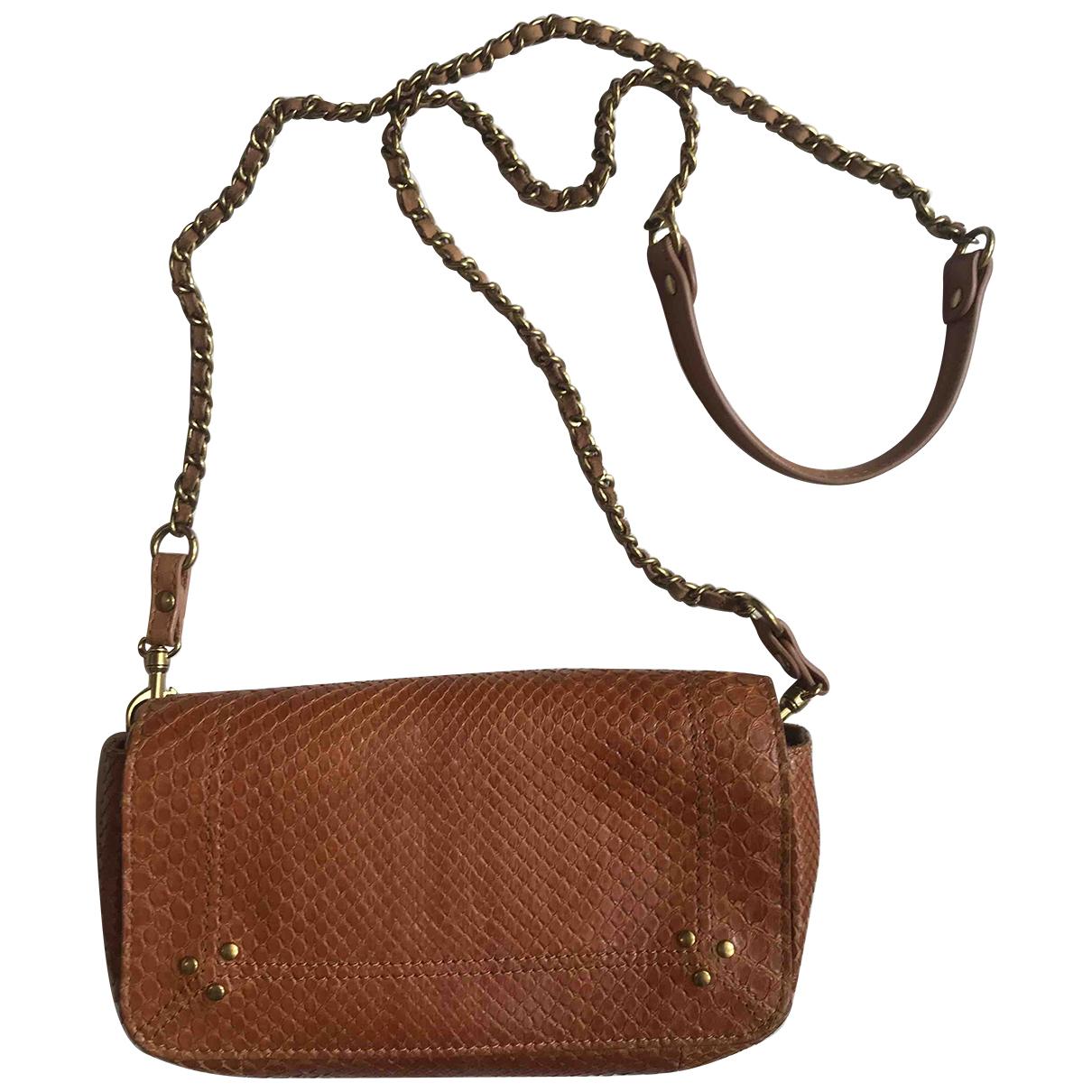 Jerome Dreyfuss Bob Camel Python Clutch bag for Women N