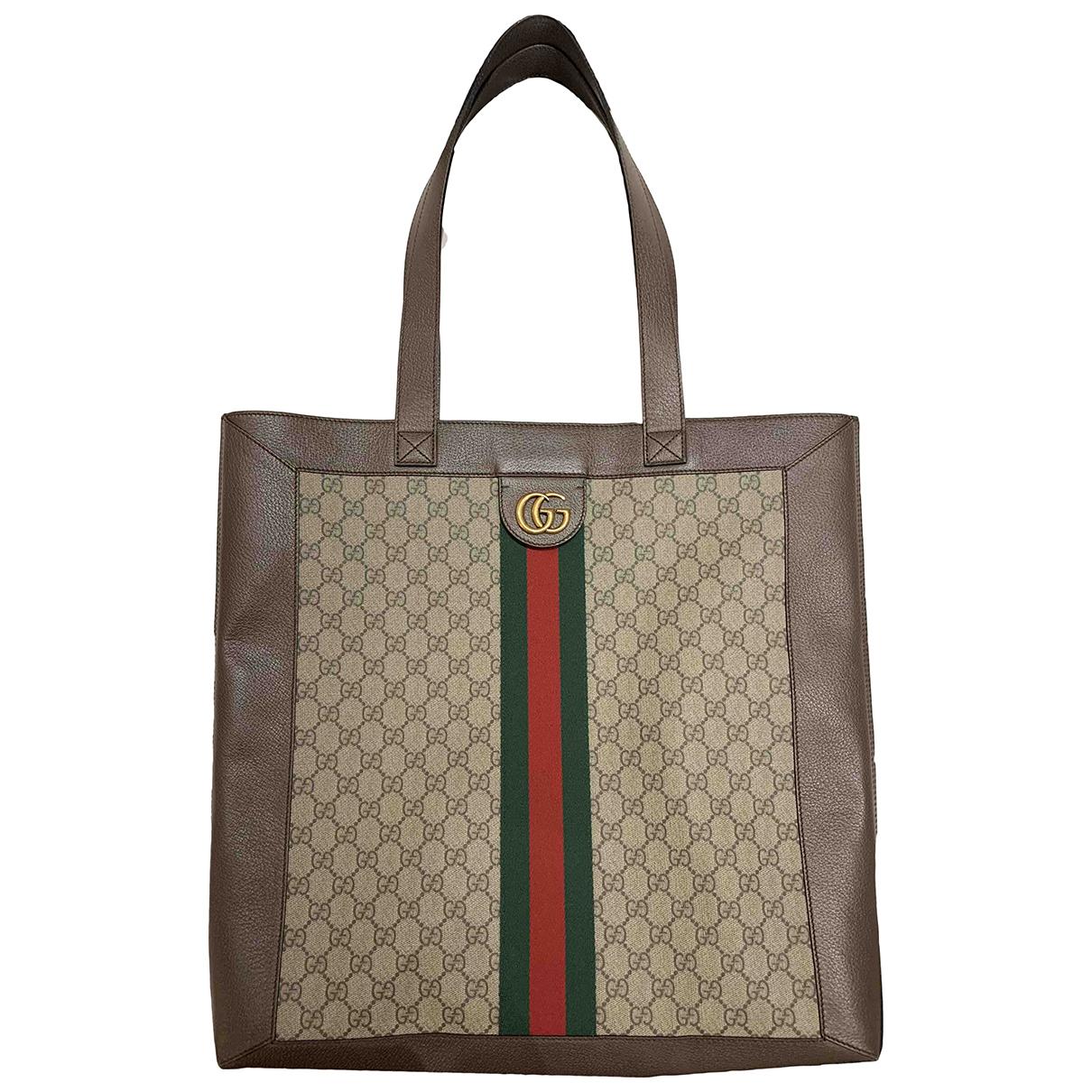 Gucci - Sac a main Ophidia pour femme en cuir - marron