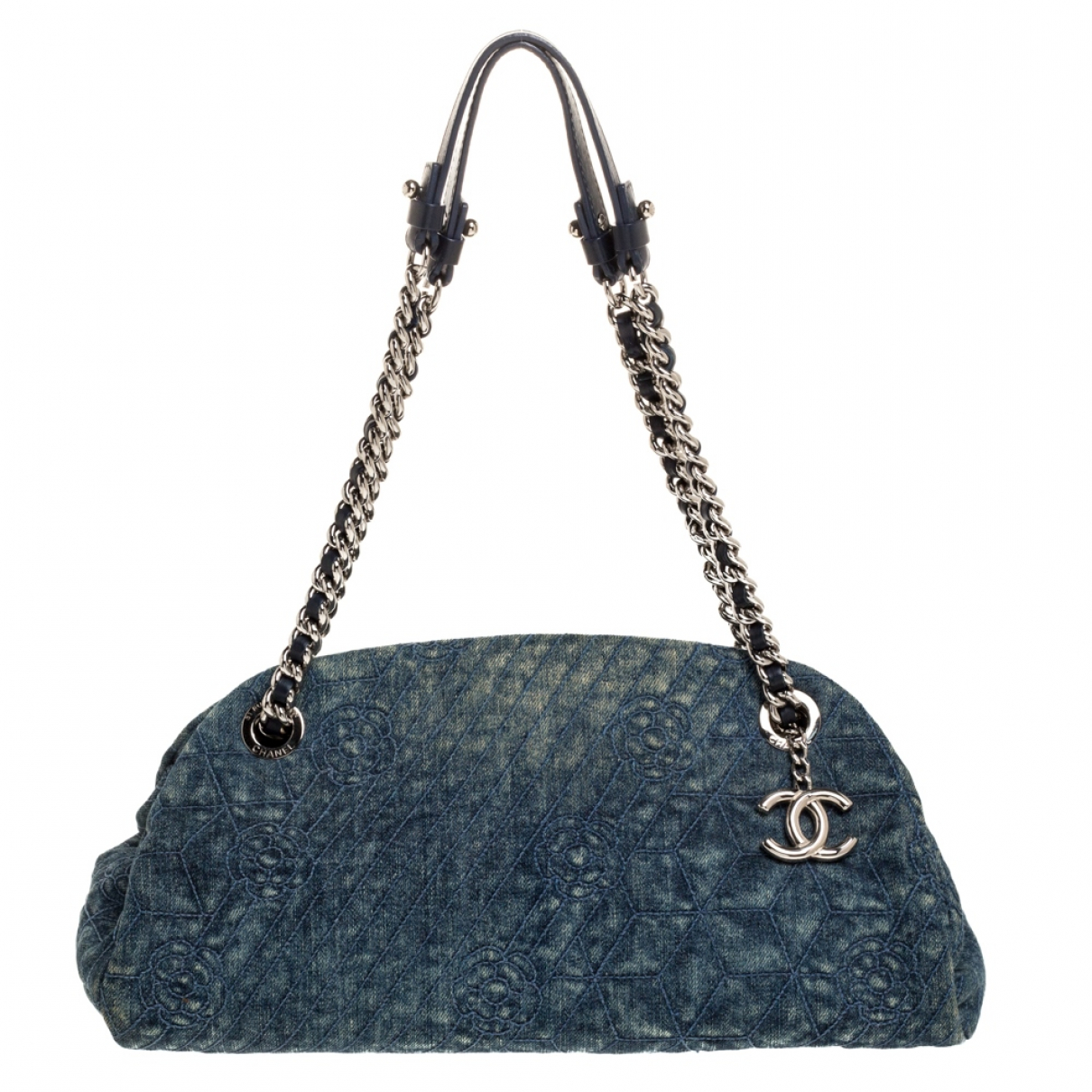 Chanel - Sac a main Mademoiselle pour femme en toile - bleu