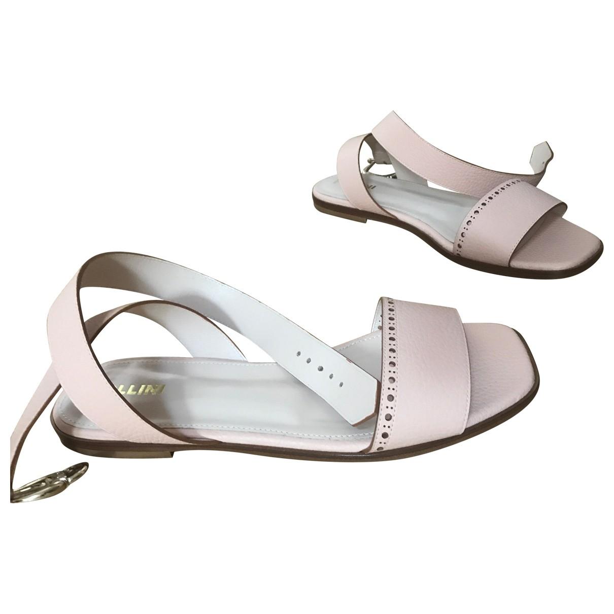 Pollini - Sandales   pour femme en cuir - rose