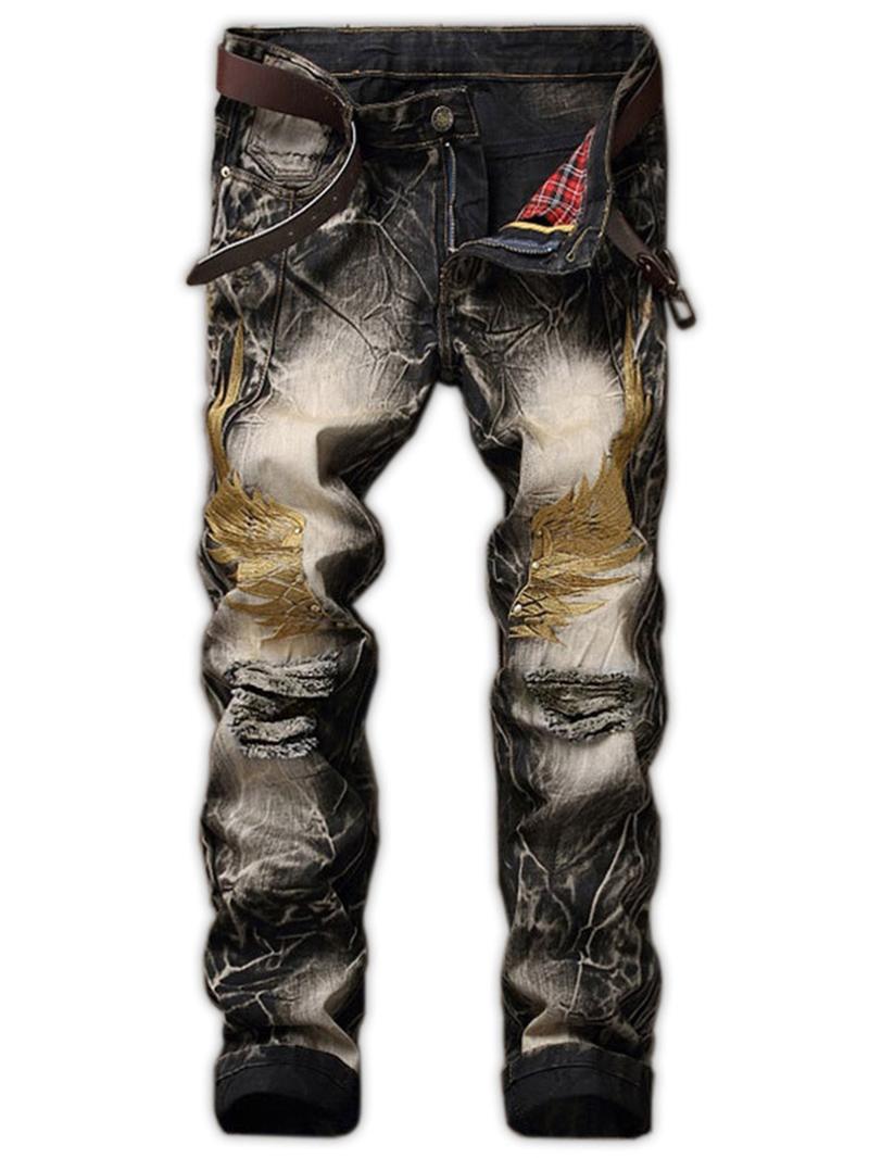 Ericdress worn Full Length Men's Denim Pants