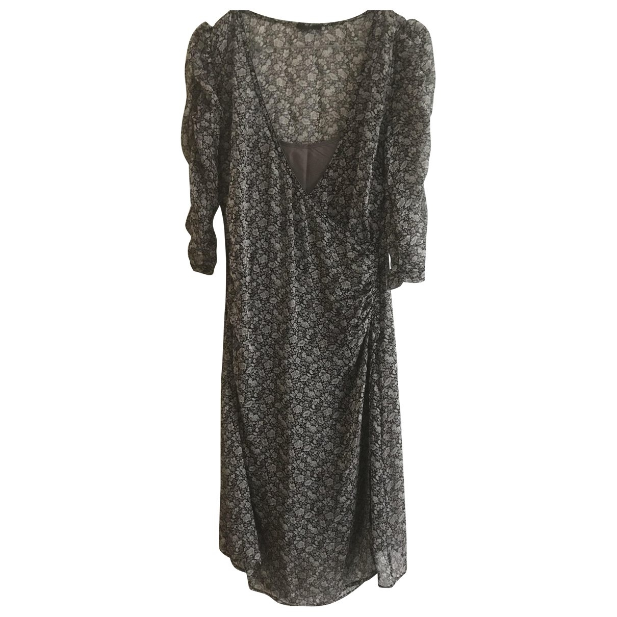 Ikks - Robe   pour femme en soie - gris