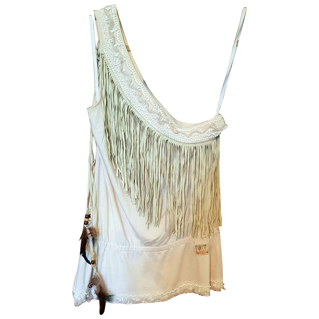 D&g - Pull   pour femme en coton - beige