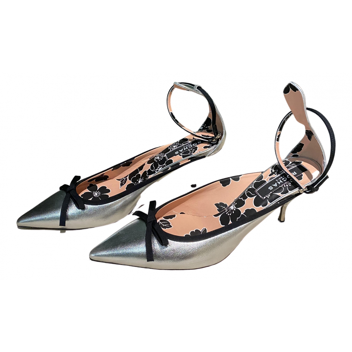 Rochas \N Pumps in  Metallic Leder